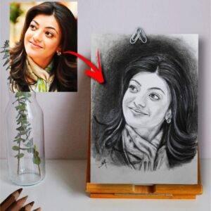 Personalized photo sketch- Handmade