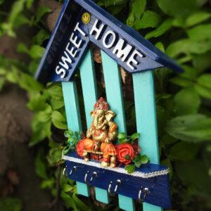 Wooden Ganesha Key Holder (Home-Decor)