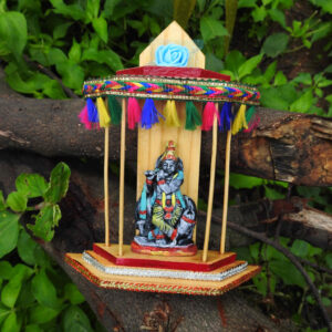 Beautiful Wooden Temple with Lord Krishna